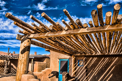 Log Roof, Taos Pueblo, NM (CP-146-2014-01-27)