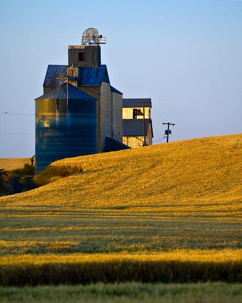 Grain elevator in the Palouse region of Washington