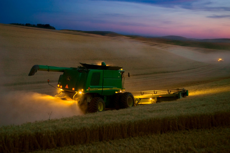 Palouse Harvest Sunset