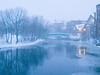Cradock Winter5:30 PM / Feb / Medford Sq.Falling snow