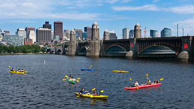 Flock of Kayaks	3:43 PM / July 2nd /Charles River	Beautiful Summer Day