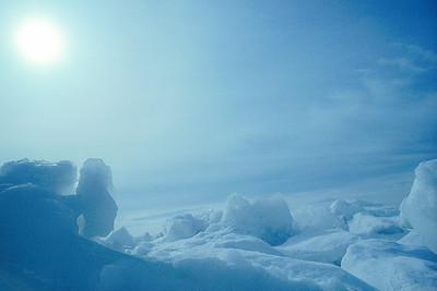 Blue Ice Fields - Lake Michigan