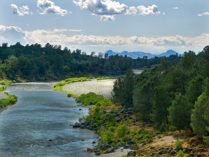 Yuba River & Sutter Buttes, CA.