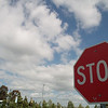 The stop sign is in the parking lot of the Salvation Army Kroc Center.