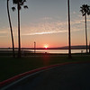 Mission Bay Park, San Diego, at sunset.