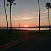 Mission Bay Park, San Diego, at sunset.