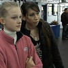 My daughter and her coach watch competitors during the Skate La Grande at the San Diego Ice Arena on March 28, 2008.