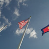 These flags are flying outside the Salvation Army Kroc Center.