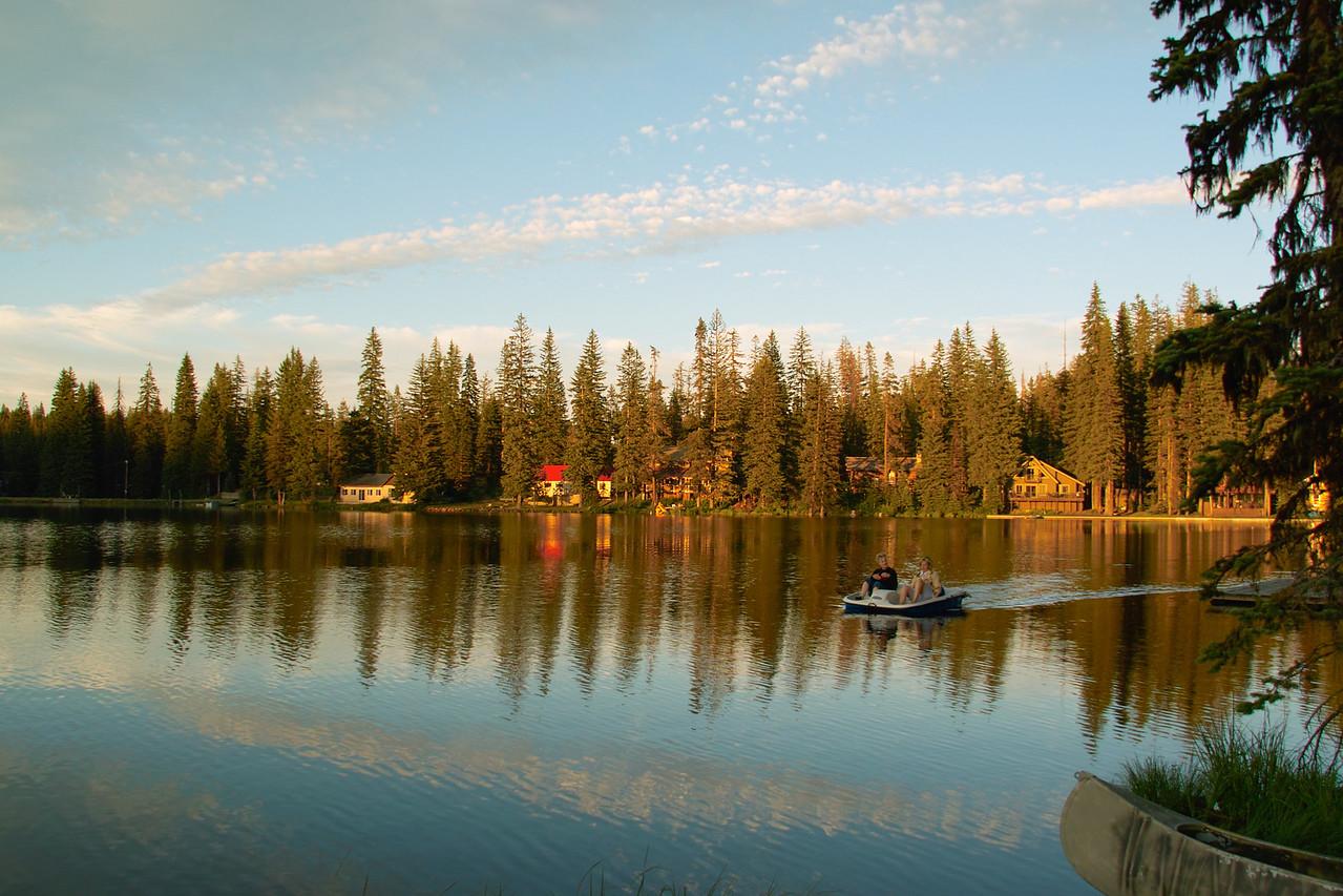 Evening Cruise on Langdon Lake