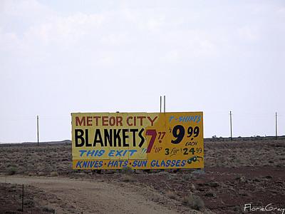Lonely Sign, Rt. 66; AZ