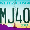 Arizona - The Grand Canyon State. (License plate of our rental car.)