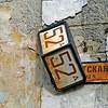 52A street sign. (Pskov, Russia)