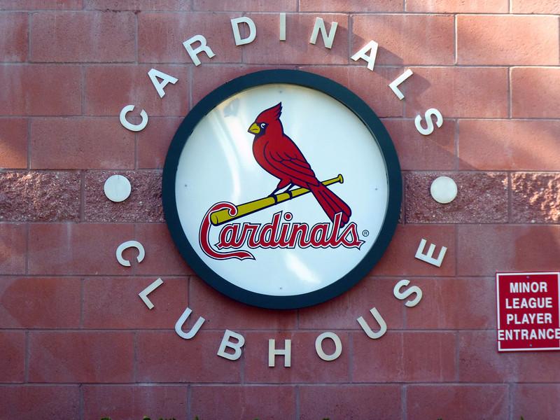 Minor league Cardinals Clubhouse. (Jupiter, Florida)
