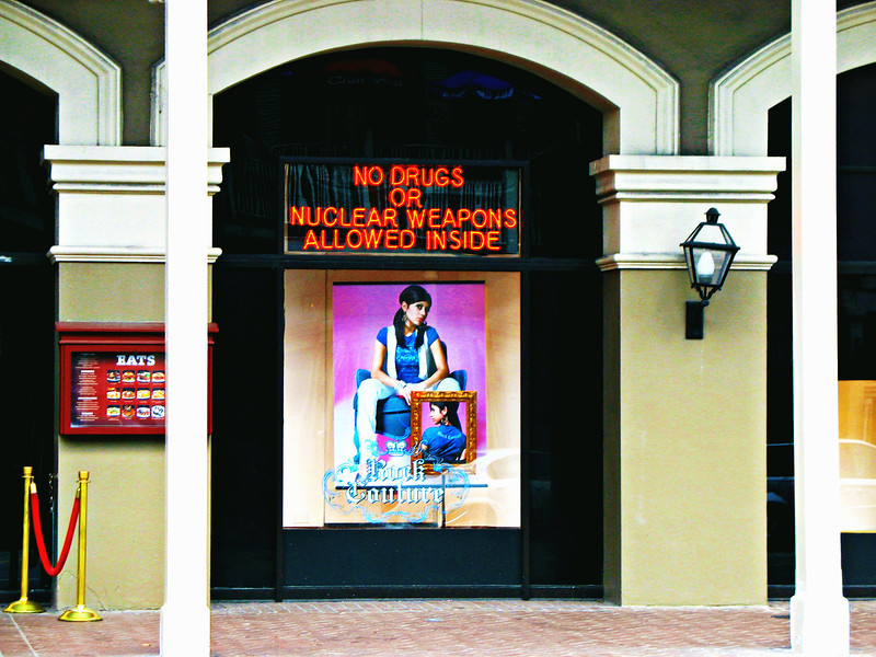 No drugs or nuclear weapons. (Hard Rock Cafe, New Orleans)