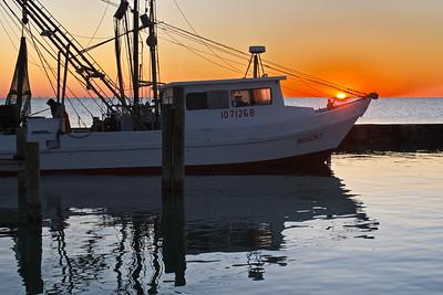 Shrimp Boat at Sunrise