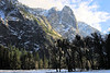 View from the valley floor, Yosemite Valley, CA