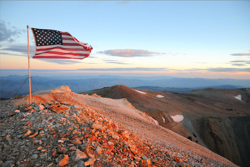 Mt Patterson, Patriotic Sunrise