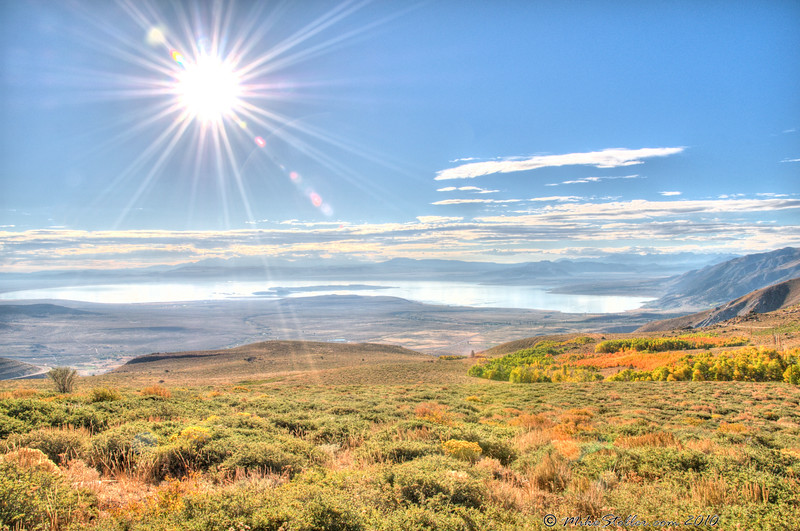 Rays Fall Over Mono Lake, CA <br /> HDR Photo