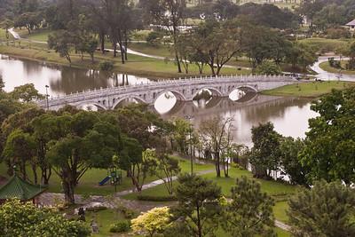 Bridge connecting, Chinese Garden and Japanese Garden