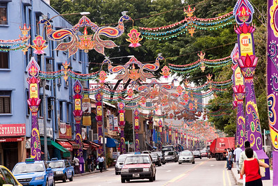 Diwali decoration, Little india