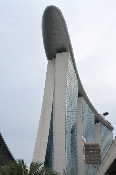 Another perspective shot of the Marina Bay Sands hotel.