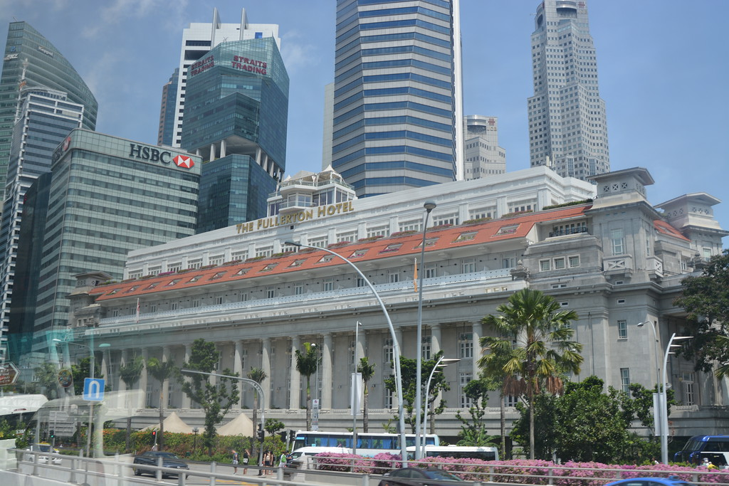 """Once a post office, this beautiful colonial building, built in 1928, is now home to The Fullerton Hotel.<br /> <br />  <a href=""""http://www.fullertonhotels.com/singapore/the-fullerton-hotel"""">http://www.fullertonhotels.com/singapore/the-fullerton-hotel</a>"""