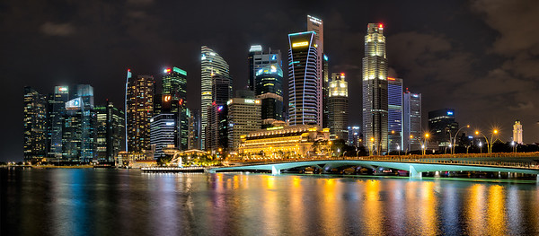 Marina Business District Skyline