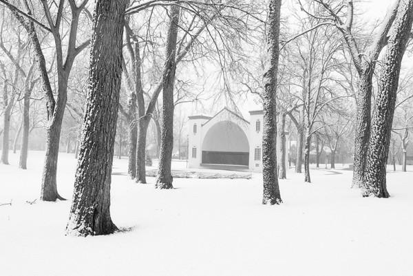 McKennan Park Bandshell in Snow