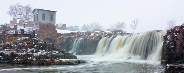 Spring Snow On Falls Park