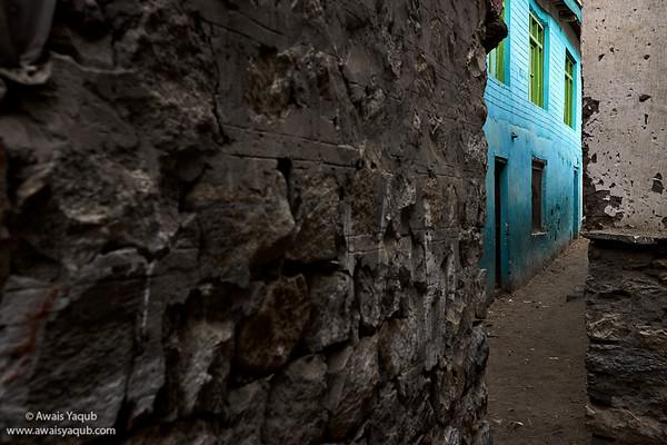 Narrow Street in Saltoro Village, Siachin