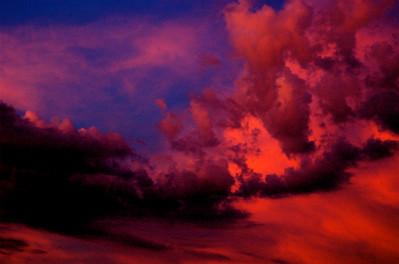 fiery sky....