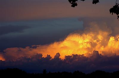river sky sunrise