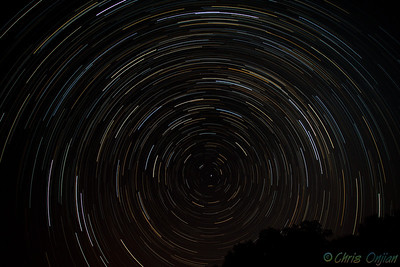 Star trail shot taken in PA. 90 minutes split up in 180 exposures of 30 seconds each. Developed raw files brought into StarTrails and processed into 1 stacked image.