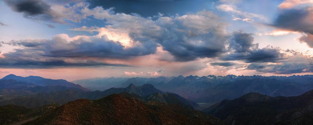 Sunset over the Eastern Sierra