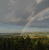 Rainbow over Rapid City, South Dakota