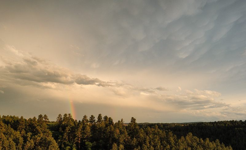 Rainbow near Rapid City, South Dakota