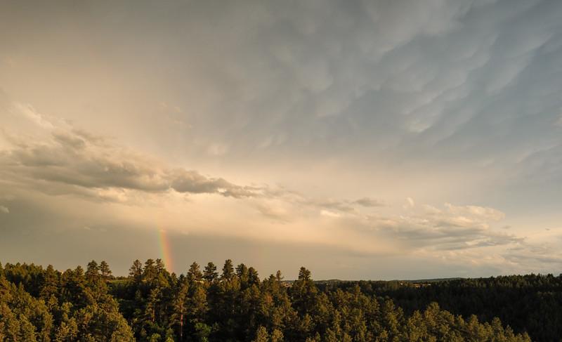 Rainbow near Rapid City, South Dakota
