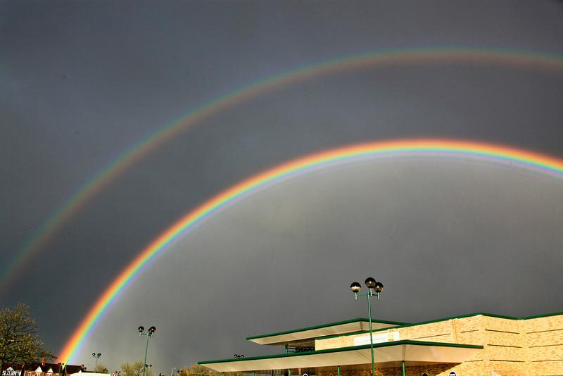 Amazing Rainbows over Morrisons in Peterborough - April 2010