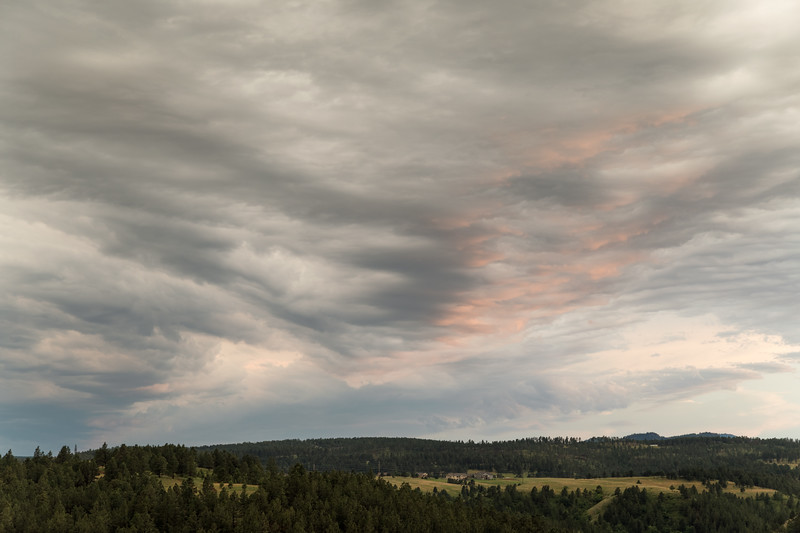 Post storm sunset over the Black Hills of South Dakota