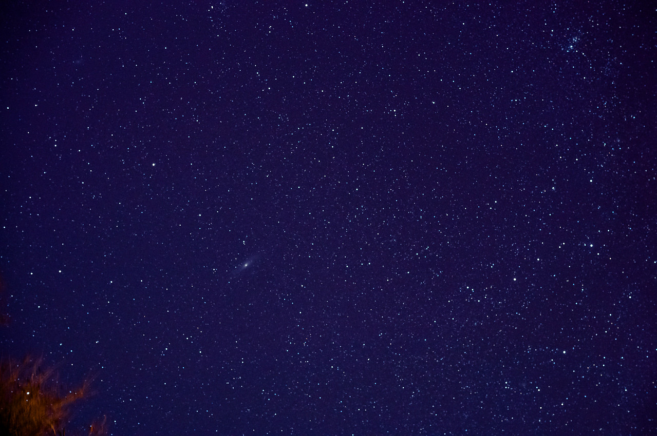 Andromeda with the Skytracker. Single photo processed in Lightroom trying to coax out a better image.