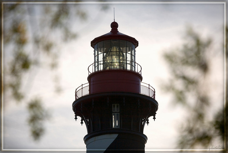 St. Augustine Light: Fresnel catches some light from the late day sun.