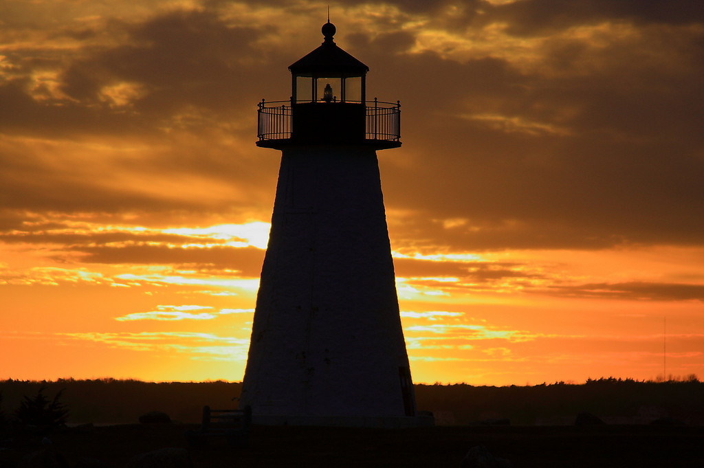 Sunset at Ned's Lighthouse, Mattaposiet, MA