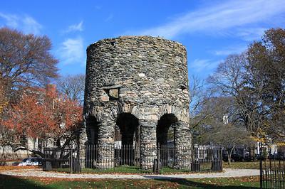 Stone Tower, Touro Park, Newport, RI.