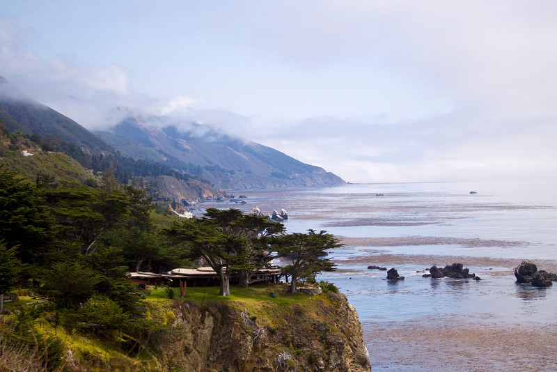 Along the Highway 1 coastline, in the Big Sur area of California. How amazing would it be to live there?