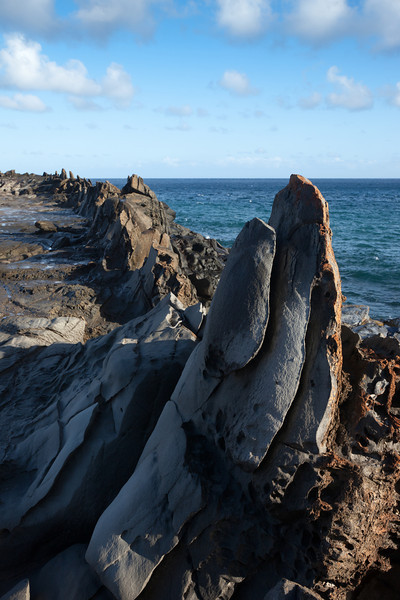 After breakfast, we drive over to Kapalua and hike down to the Dragon's Teeth