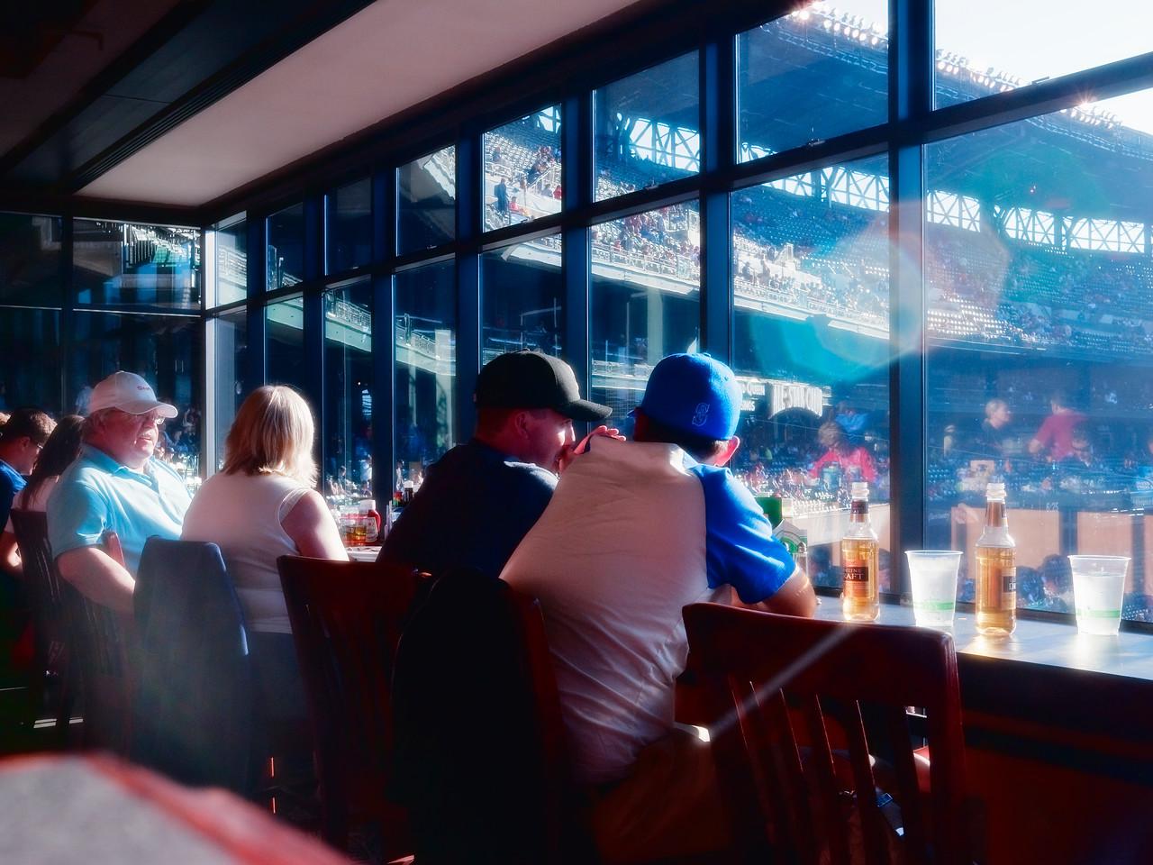 14 Aug 2011: A sunny day in the Hit It Here Cafe at Safeco Field.
