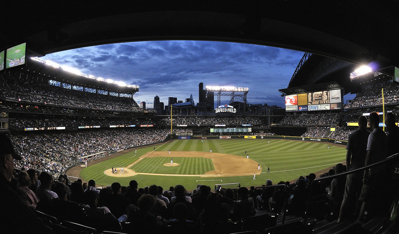 16 June 2010: I rented a fisheye lens today. Here's a shot from Safeco Field.