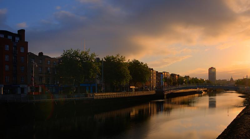 Sunrise in Templebar, Dublin