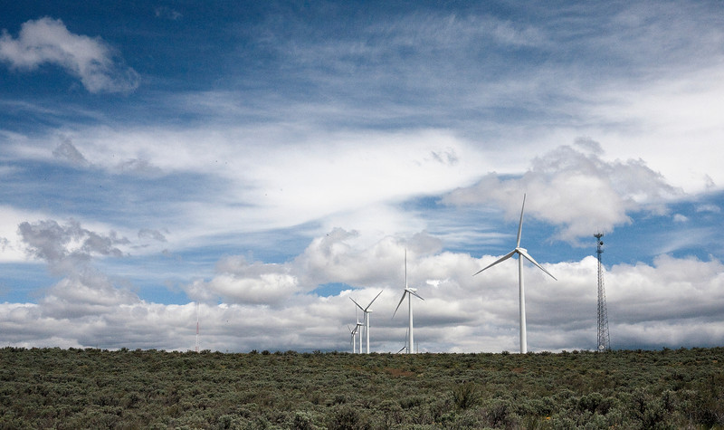 23 May 2011: Wind turbines just outside of Vantage, Washington