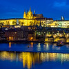 Prague Castle complex and Vltava river